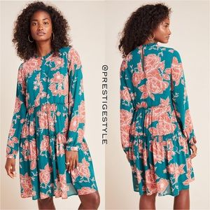 ANTHROPOLOGIE Esther Tiered Tunic Dress